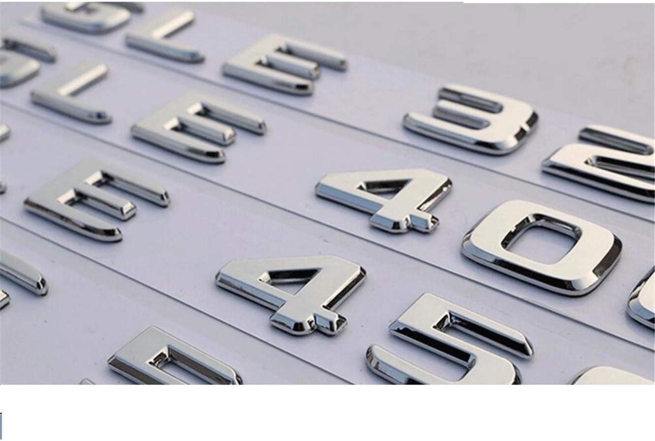 A200 Flat Chrome Rear Trunk Letters Badge Badges Emblem Emblems A45 AMG A180 A200 A250 A260 V8 BITURBO 4MATIC W176