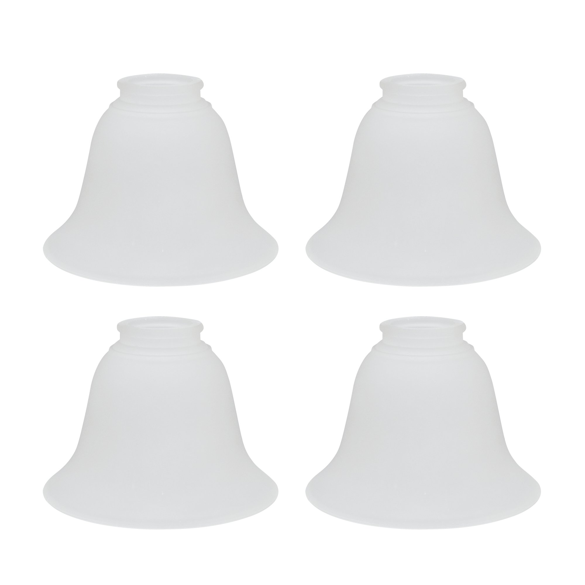 Aspen Creative 23023-4 Transitional Style 4 Pack Replacement Glass Shade, 2 1/4'' x 4 1/2'' x 6'', Frosted