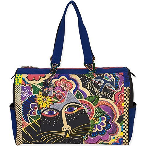 Laurel Burch Travel Bag, 21 by 8 by 15-Inch, Carlotta's Cats by Laurel Burch