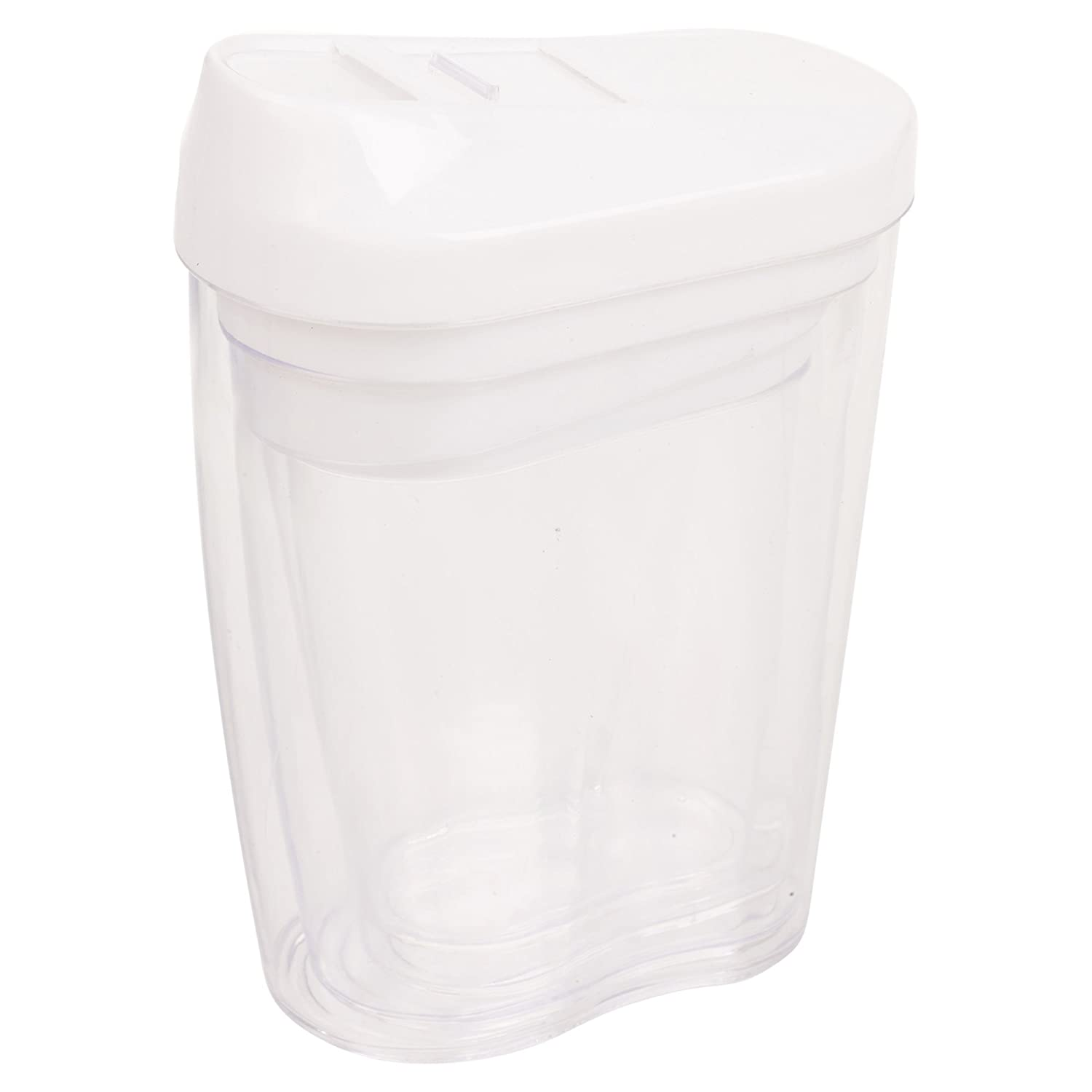 4pc Stacking Nested Food Storage Dispenser Containers Set Slide Lid Easy Pour 4 Colours Available (White) EG Homeworks