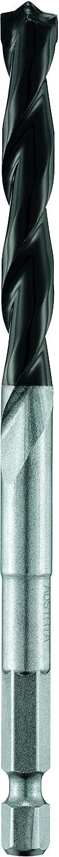 alpen Hartmetall-Betonbohrer Profi Beton, 1/4 Zoll Sechskant-Schaft, Durchmesser 10 mm, L1 120 mm, L2 80 mm, 18901000100