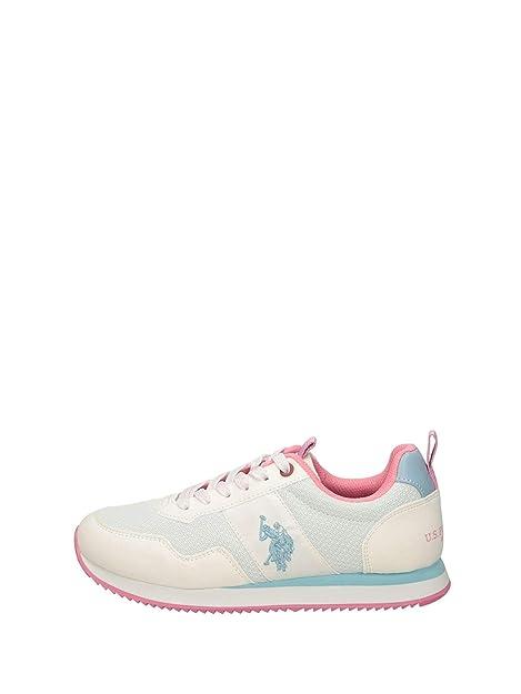 US Polo Teva - Zapatillas Bajas Mujer Blanco Talla 39: Amazon.es ...