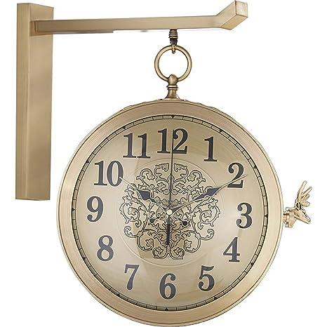 Relojes de pared Relojes Relojes de Personalidad Mudo de ...