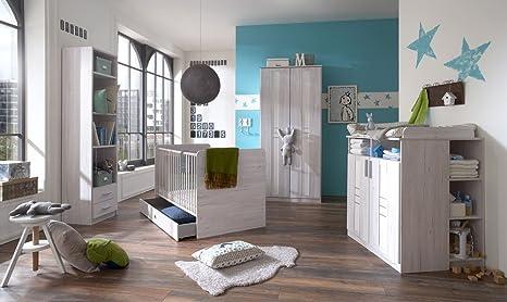 Lifestyle4living Babyzimmer Komplett Set In Grau Weiss