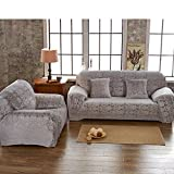 Non slip slipcovers,Thicken winter furniture protector High elasticity pets and kids couch cover Sectional sofa throw pad-B 4 Seater(92x118inch)