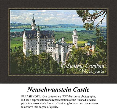 Landscape Counted Cross Stitch Patterns Pattern Only, You Provide The Floss and Fabric Neuschwanstein Castle