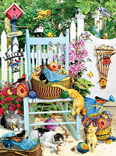 (SunsOut The Knitting Chair 1000 Pc Jigsaw Puzzle -Knitting Theme)