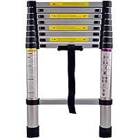 MCTECH Échelle télescopique en aluminium pliable 2,6 m - Capacité de charge de 150 kg (2,6 m)