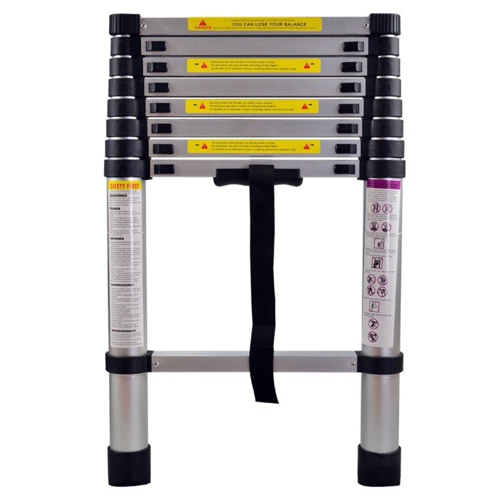 150 kg Belastbarkeit 12 Sprossen 3,8m klappbar SAILUN/® Teleskopleiter Klappleiter Ausziehleiter aus Hochwertigem Alu Teleskop-Design Mehrzweckleiter 87cm bis 3,80m Anlegeleiter F