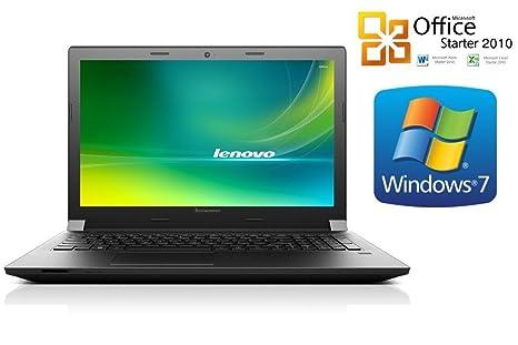 Ordenador portátil Lenovo B50 [con teclas en disposición alemana], Intel Quad Core, 500 GB HDD, ...