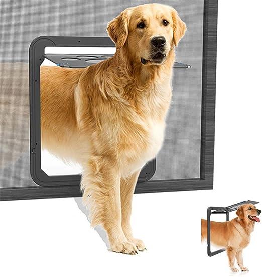 Xiao Puerta Giratoria para Perros Y Gatos, Puerta para Perros Gatera Mosquitera para Mascotas Domésticos Puerta Magnética con Cierre Automático para Gato Y Perro Pequeño: Amazon.es: Hogar