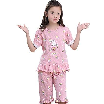 Pajama Sets Girls Sleepwear Children S Summer Nightdress 100