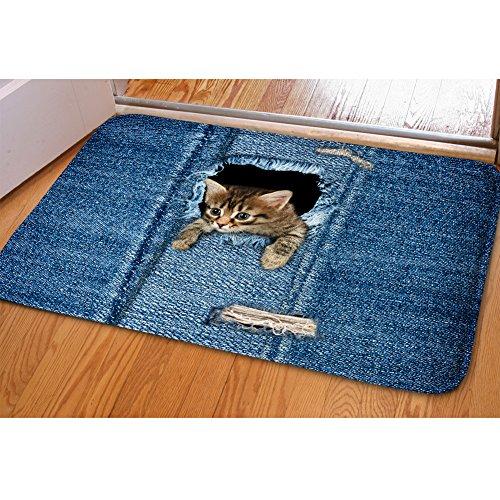 (Youngerbaby Welcome Doormat Animals Cats Printing Collection Rectangular Mat Rug Carpets Floor Mat Washable Garden Office Bathroom Mats Non Slip Indoor/Outdoor Front Rug)