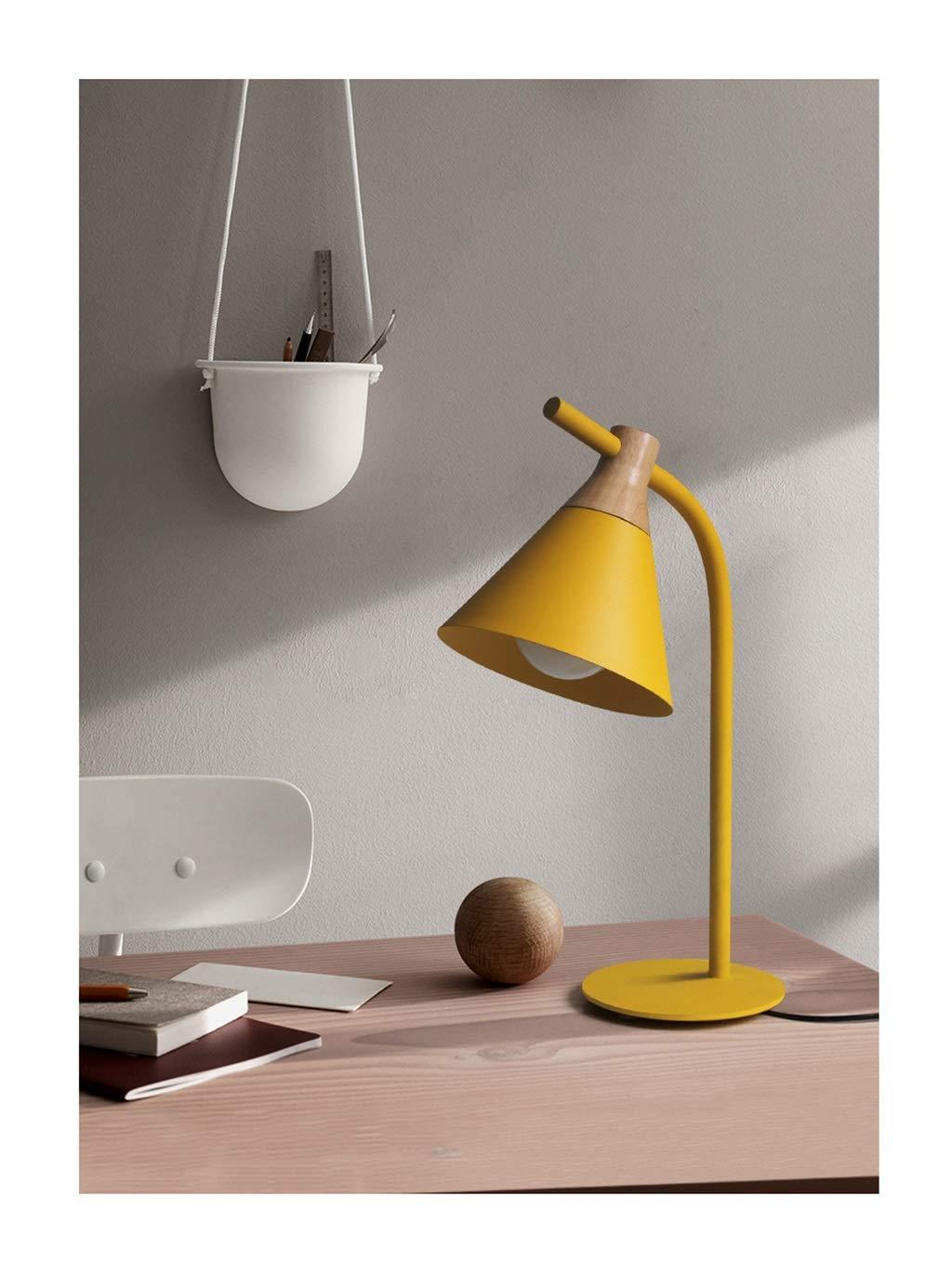 JUNBON Nachttischlampe Schlafzimmer dekorative Tischlampe