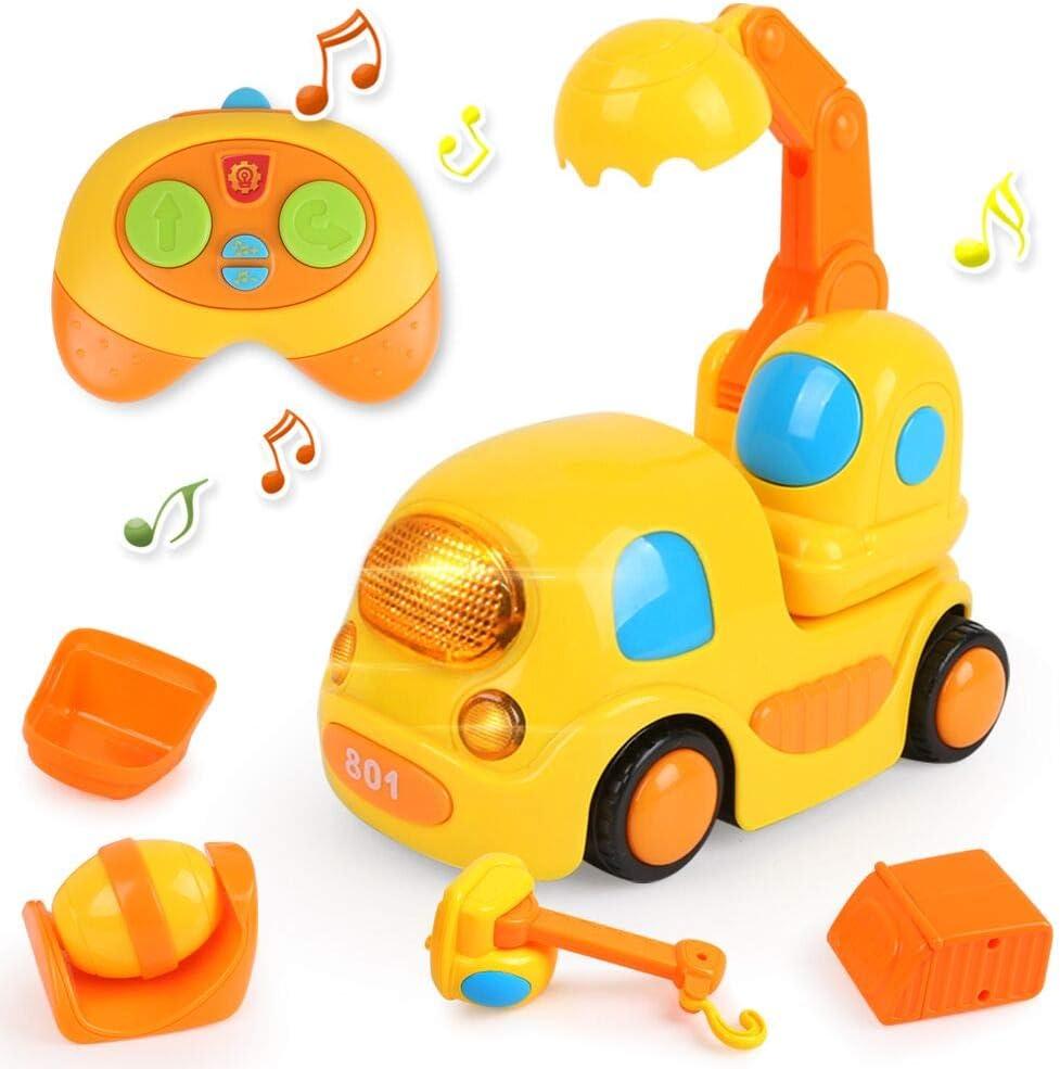 LBLA Coches Teledirigidos Niños 2 Años,Juguetes 2 Años,RC Juguetes para Bebés Niños 2 Años,Juguetes Niños 3 Años,Música y Luces