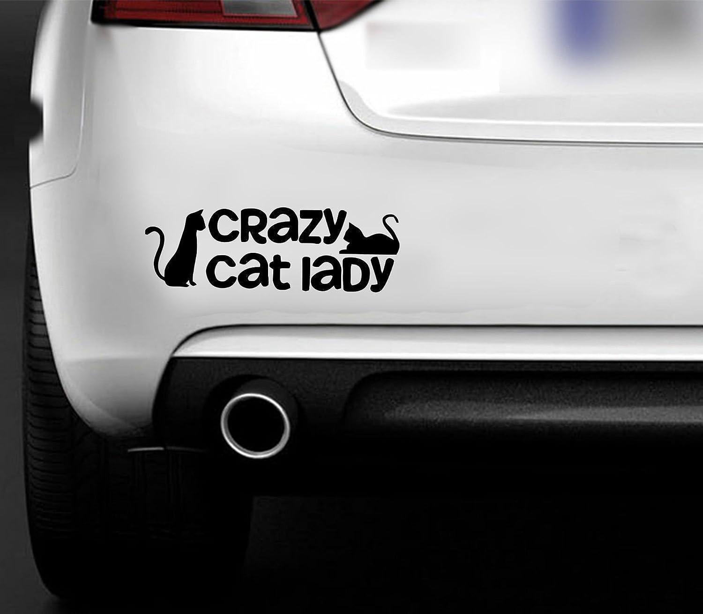 """Lustiges Vinyl-Fensterklebebild mit Motiv """" Crazy Cat Lady"""" , fü r Autos, Transporter, Boote, Hobby MR WHEEL TRIMS"""