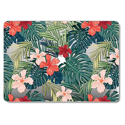 GMYLE MacBook Pro 13 Case with Retina Display No CD-ROM (A1502/A1425, Version 2015/2014/2013/end 2012), Plastic Hard Case Shell - Tropical Plants