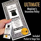 Magic Makers Ultimate Magician's Insurance Policy Trick - Professional Pocket & Stage Versions Included