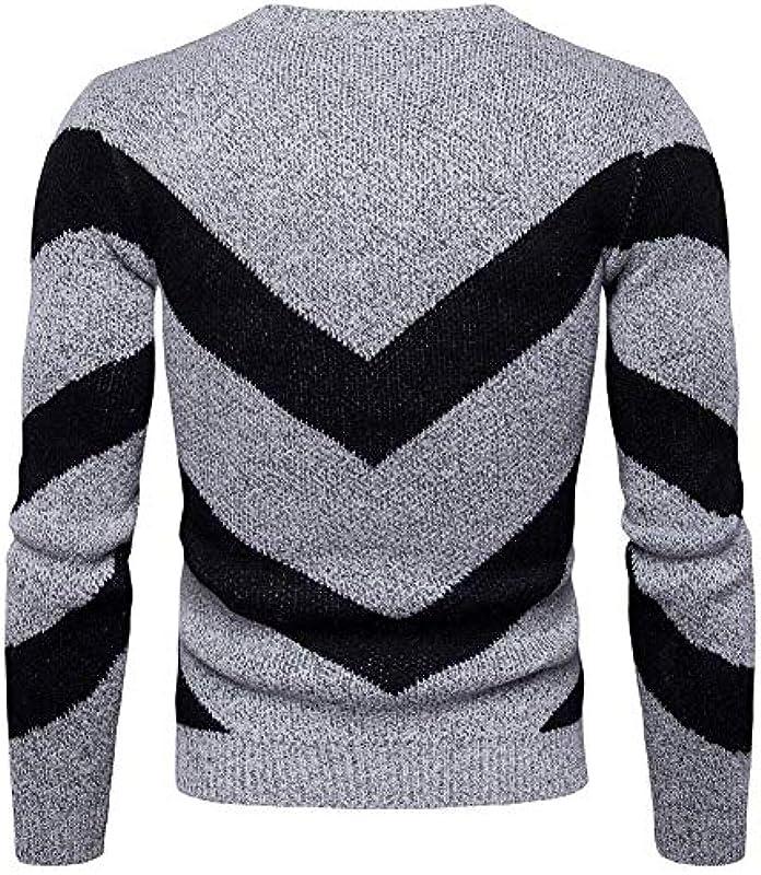 HX fashion męski sweter jesień zima muzyczny nadruk z uwagami sweter dziergany wygodny rozmiar sweter długi rękaw okrągły dekolt sweter dziergany ubranie: Odzież