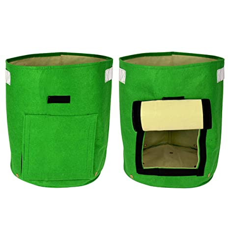 Daul capa telas no tejidas crecimiento para patatas reciclado bolsa de crecimiento