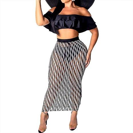 BIN-Clothing Ropa de Mujer Moda Conjunto de Falda de Dos Piezas ...