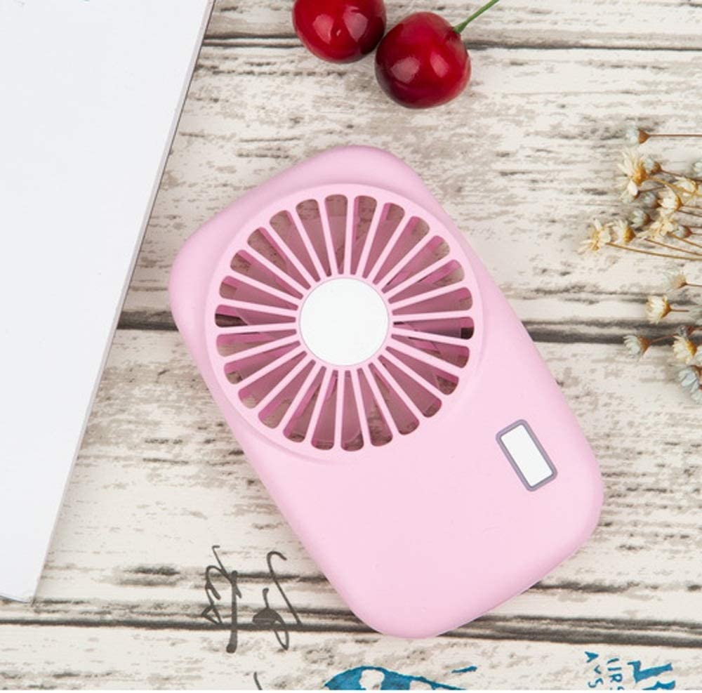 MDYYD Mini USB Table Desk Personal Fan Handheld Mini Portable Pocket USB Rechargeable Fans with 2 Speed for Home Office Outdoor Travel Camping Strong Wind,Quiet Operation,for Home Office.