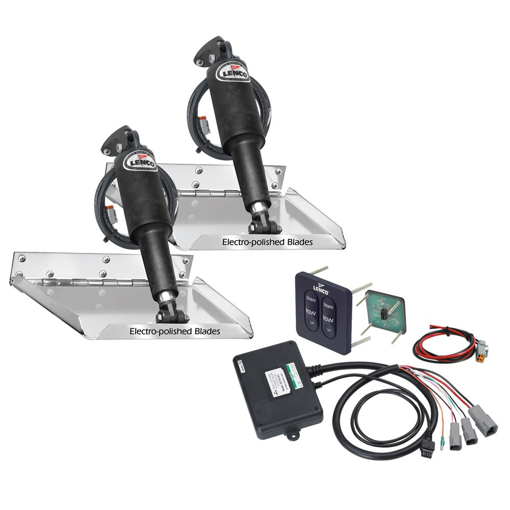 Lenco 12'' x 9'' Standard Performance Trim Tab Kit w/Standard Tactile Switch Kit 12V (RT12X9) (29242)