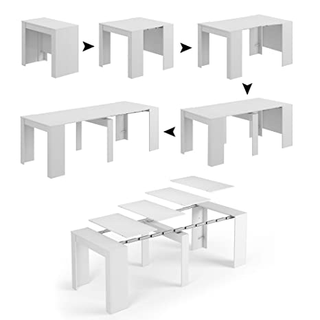 Tavolo Allungabile Console.Esidra Tavolo Allungabile Bianco X Large