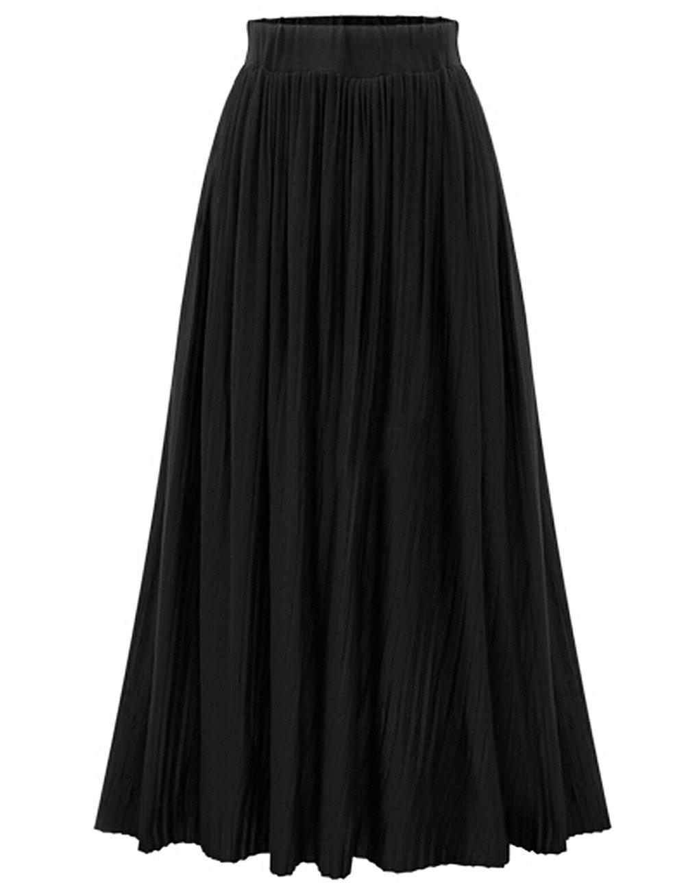 Women's Fashion Pleated Skirt Midi A Line Skirt