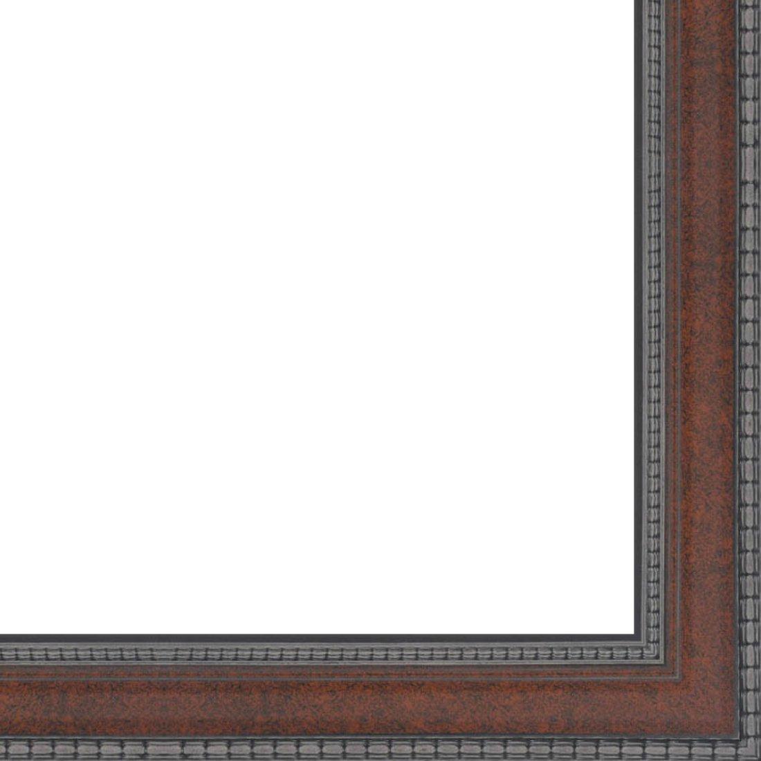 Picture Frame Moulding (Wood) 18ft Bundle - Traditional Walnut Finish - 2.5'' Width - 1/2'' Rabbet Depth
