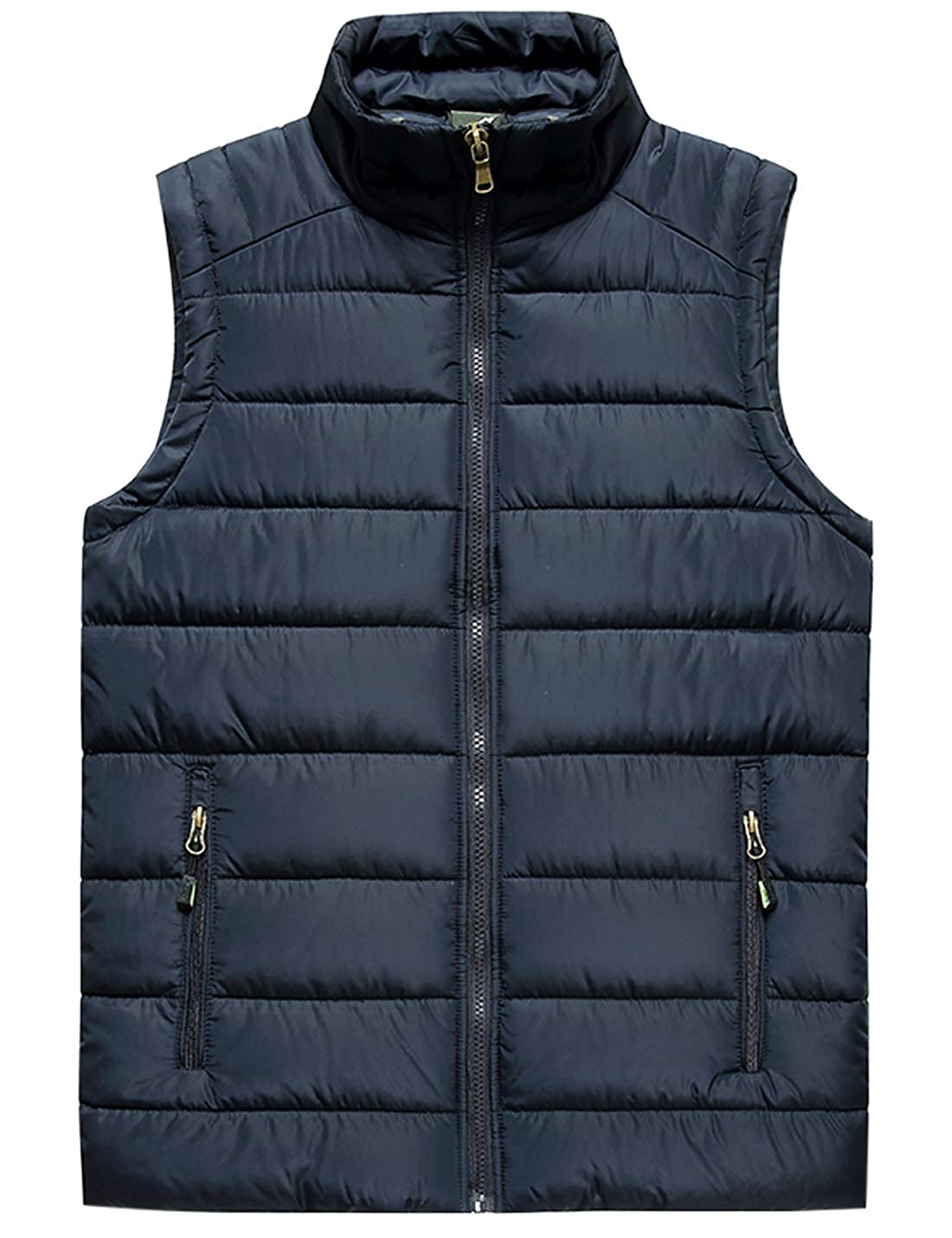 Jenkoon Mens Classic Quilted Down Outdoor Puffer Vest Casual Vest Jacket Coat