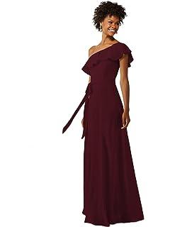 Ever-Pretty Womens Elegant Sleeveless Floor Length Ruffles Chiffon  Bridesmaids Dress 07201 bccd383df0e9