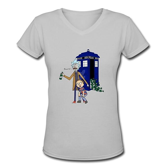 ywt mujeres de Rick y Morty Doctor Who estilo camiseta Funny: Amazon.es: Ropa y accesorios