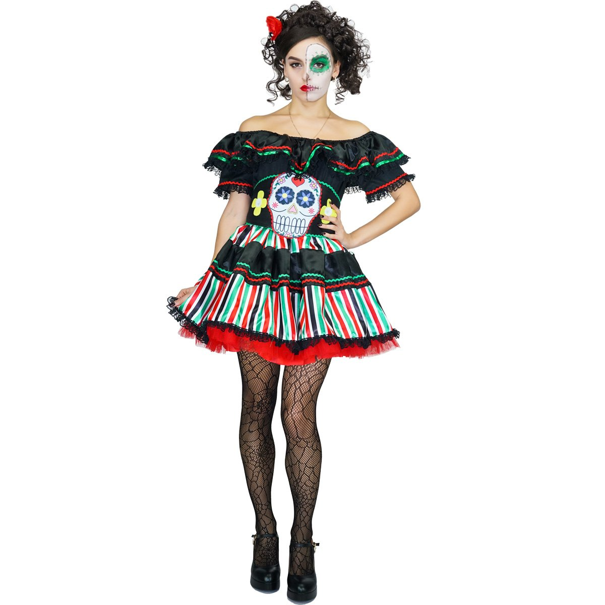 SEA HARE Disfraz de señorita del día de los Muertos de Disfraces ...