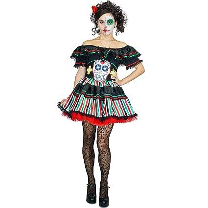 SEA HARE Disfraz de señorita del día de los Muertos de Disfraces (M)