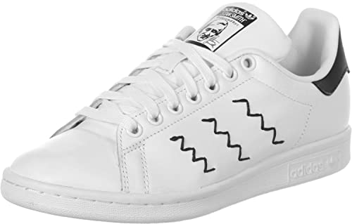 adidas Stan Smith, Sneakers Bassi Donna, Bianco (Bianco/Nero), 44