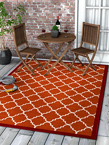 - Well Woven 65104 Kings Court Brooklyn Trellis Modern Red Geometric Lattice 3'3