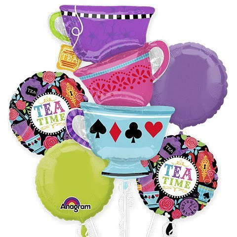 Anagram Tea Time Party Bouquet of Balloons, kit, Party, Set, Decorations, -