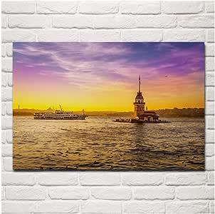 Turquía Mar Amaneceres Puestas de sol Cielo Torre de la