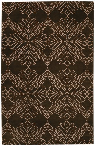 Capel Picturesque-Grace Rectangle Cocoa Hand-Knotted Rug (7'x 9') - 7' x 9'