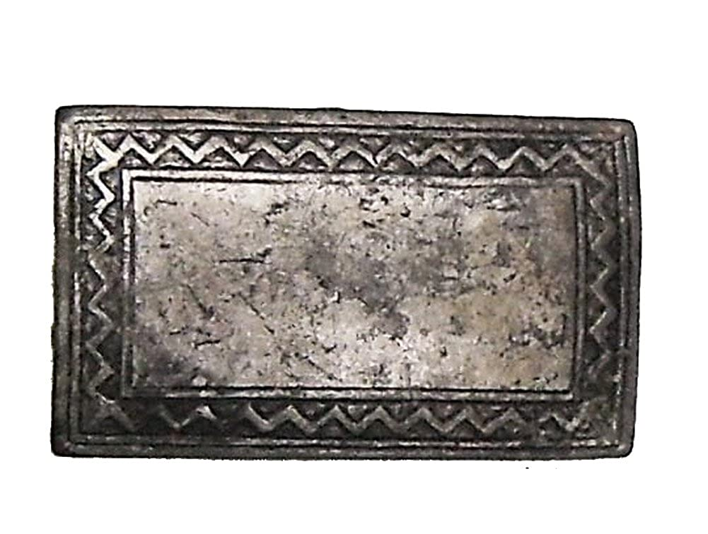 Modestone Unisex Antiqued Metal Western Style Fibbia Cintura O/S Silver bk1069