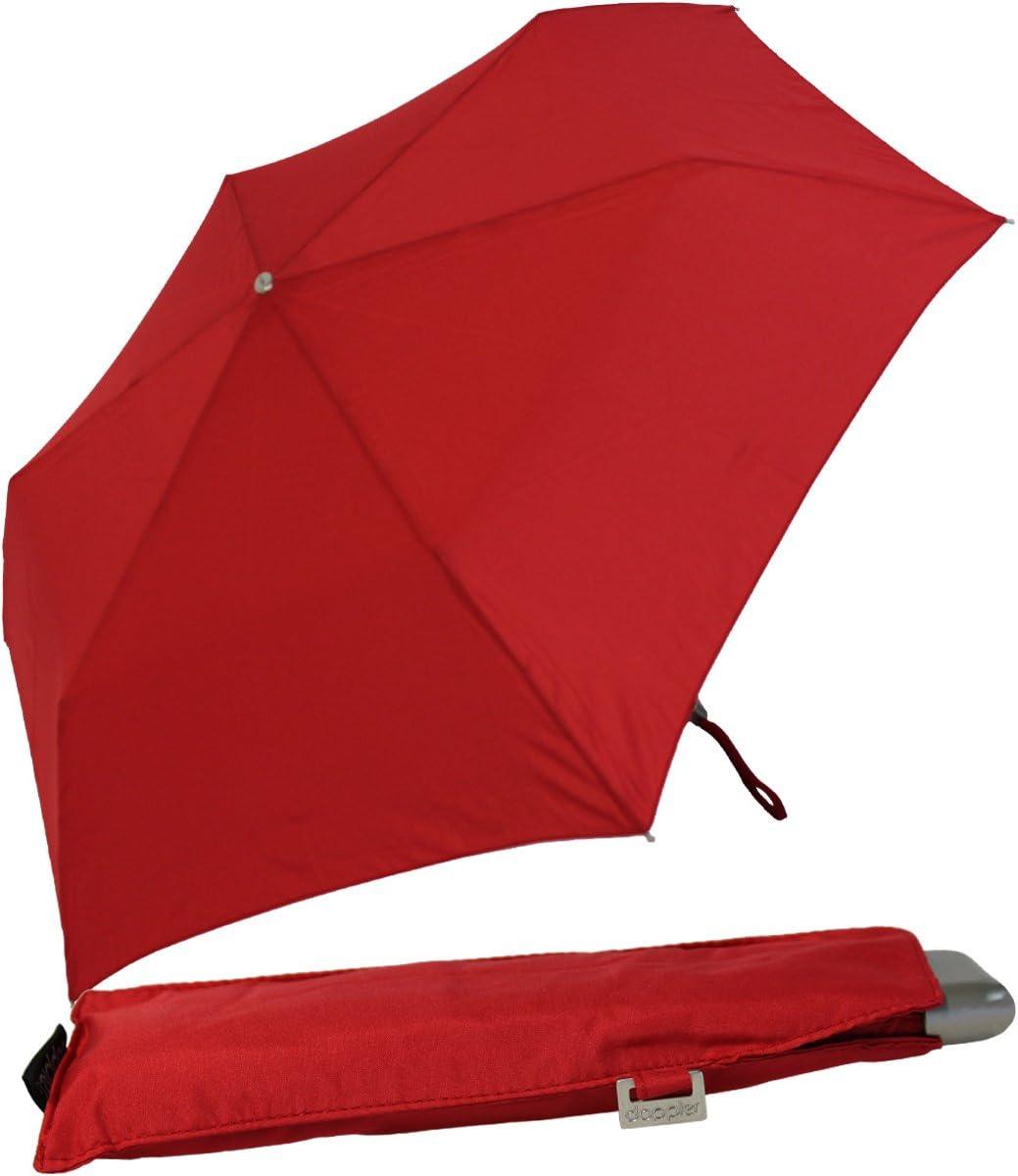 Taille Pratique Parapluie de Poche Doppler Carbonsteel Slim Uni Tr/ès l/éger Noir 22 cm