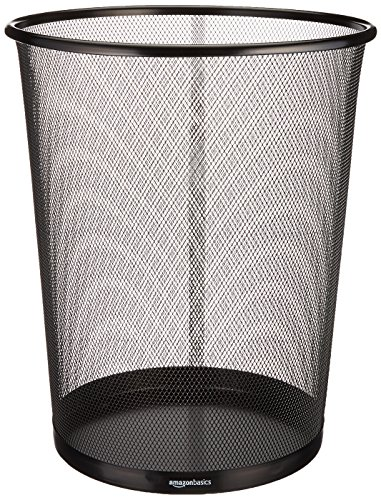 - AmazonBasics Mesh Trash Can Waste Basket
