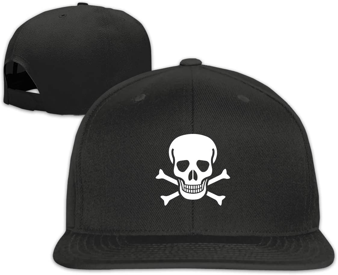 MOCSTONE Unisex Snapback Hat Crossbone Skull Head Adjustable Baseball Cap