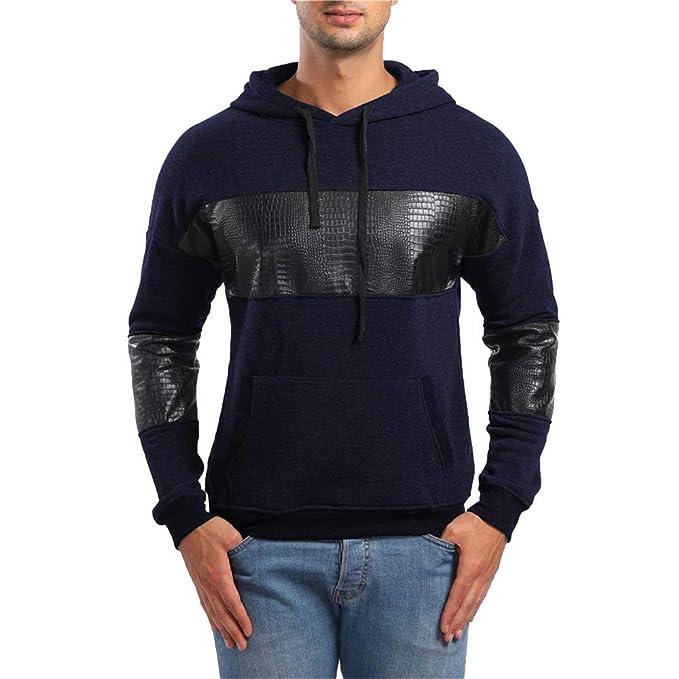 Yvelands Active Sweaters, Ropa de Hombre Ofertas Bolsillos Hoodie Sudadera con Capucha Top tee Outwear
