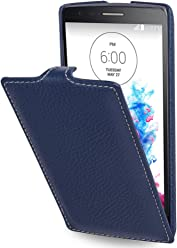 StilGut® UltraSlim Case, custodia in pelle per LG G3s, blu navy