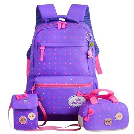 QYYDSB Back Pack para Niñas Niños Mochilas Escolares 3 Unids/Set ...