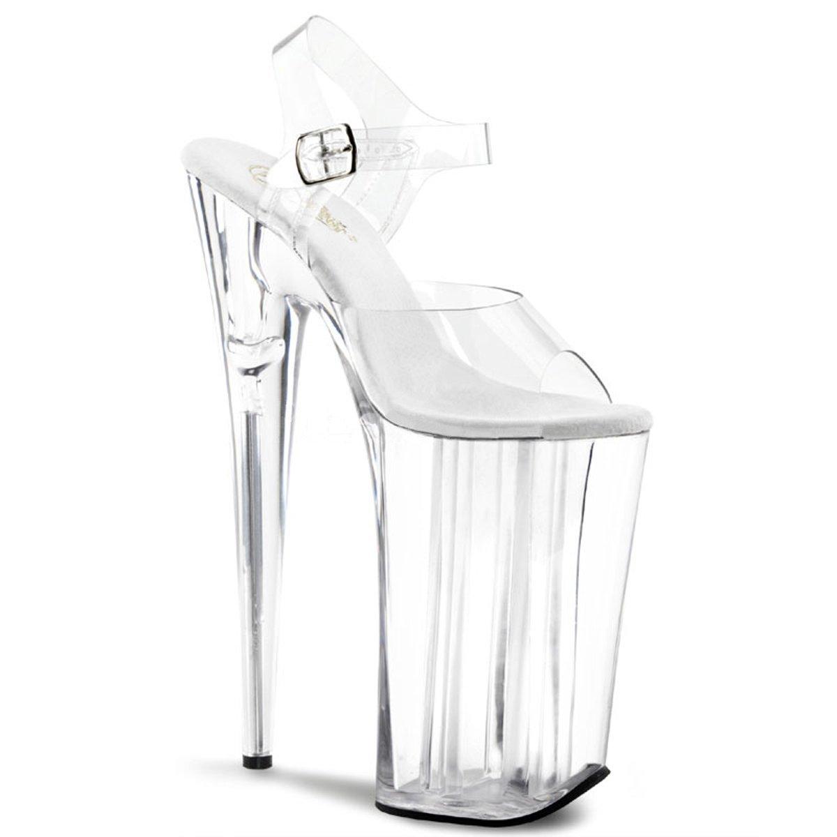 Pleaser BEYOND-008 Women Ankle Strap Sandal B00IA62ALI 8 B(M) US Clear/Clear