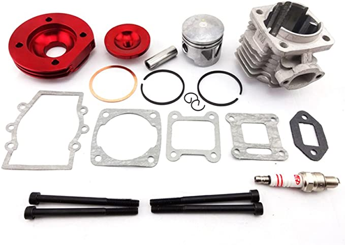Pistons Assembly Piston Pin Rings Kit Set for 2 Stroke 47cc 49cc Pocket Mini Bike Kid ATV Minimoto