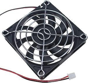 GDSTIME 80mm Fan, 80mm x 80mm x 15mm 24V DC Brushless Cooling Fan Sleeve Bearing